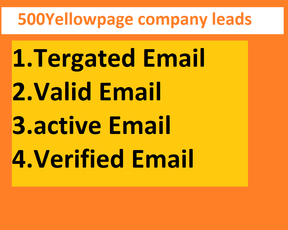 I will provide to 500 Yellow page company leads