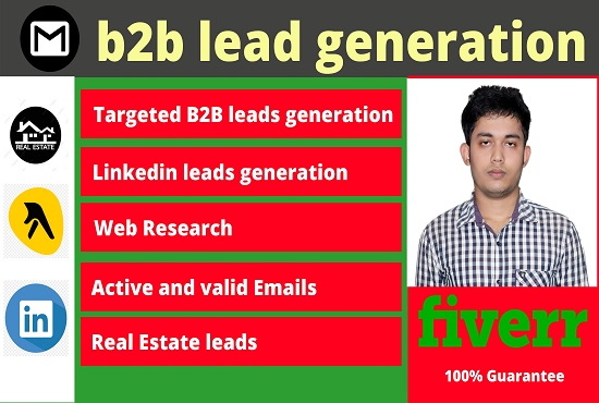 i will do high quality b2b lead generation targeted email list for your targeted business