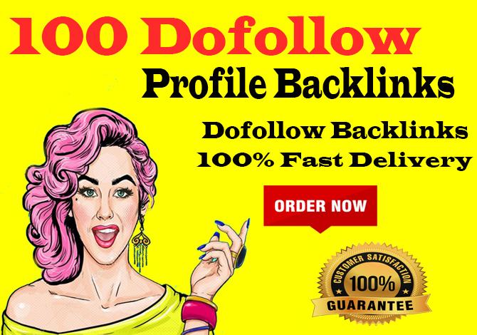 manually 100 pr9 da 90 dofollow profile backlinks