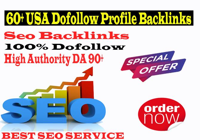 manually create 60 USA high authority do follow profile backlinks