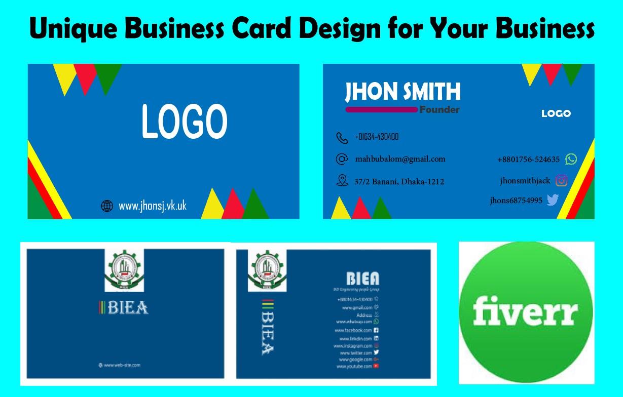 I will creative Unique business card design