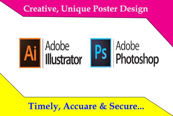 I will create unique poster design
