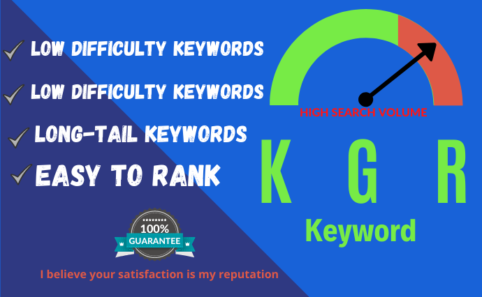 I will do KGR keyword research and competitor analysis