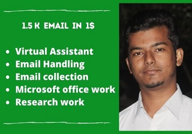 I will do your virtual assistance work