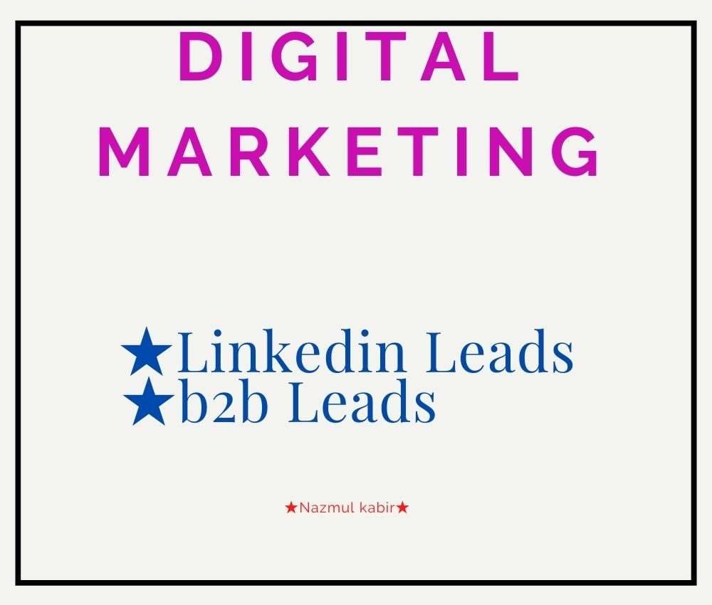 I Will Provide B2B Lead, LinkedIn Lead Generation