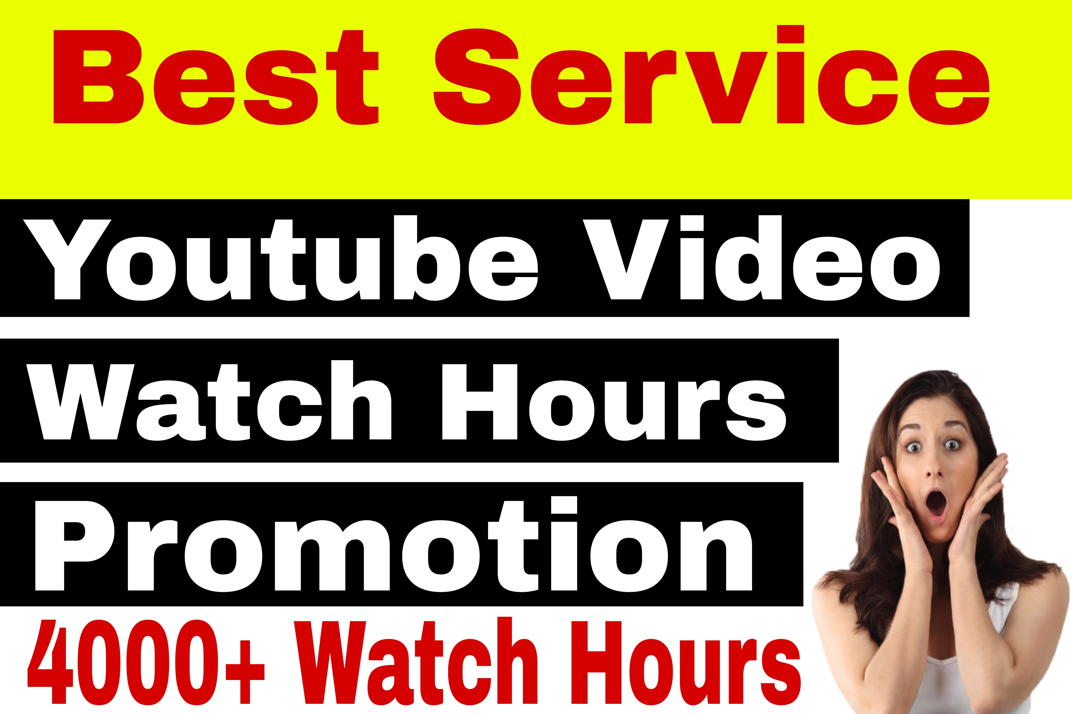 Youtube Video Watch Time Hours Promotion And Marketing Via Human Audience