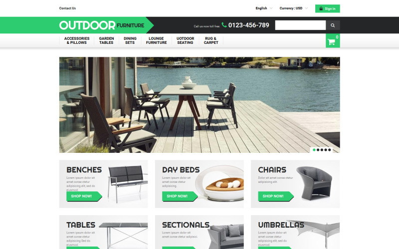 Outdoor Furniture PrestaShop Theme