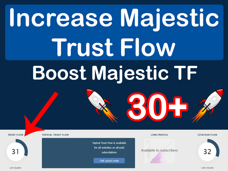 I will increase your website TF up to 30+ within 25 days