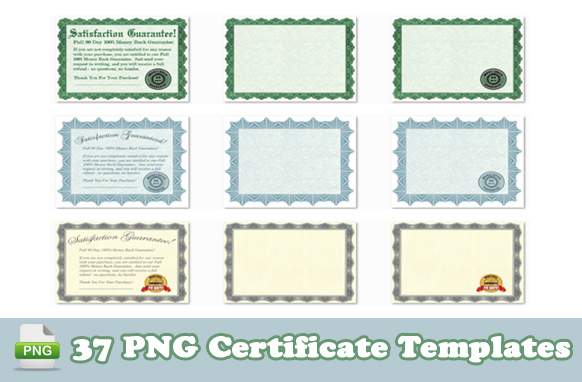 37 PNG Certificate Templates For You