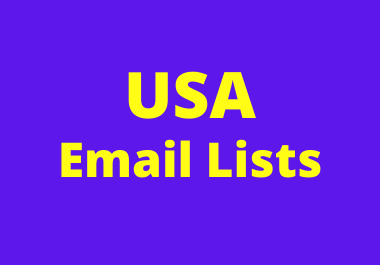 Get verified USA Email lists for campaign