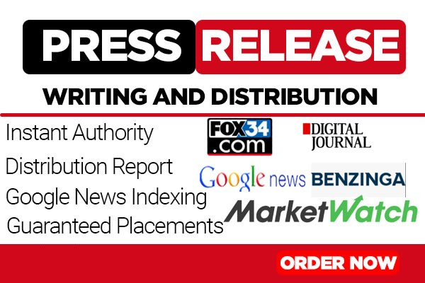 Distribute Press Release To MarketWatch, Digital Journal and 350+ outlets