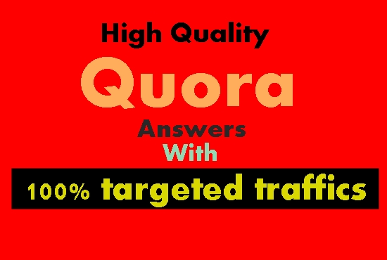 Offer 10 High Quality Quora answer