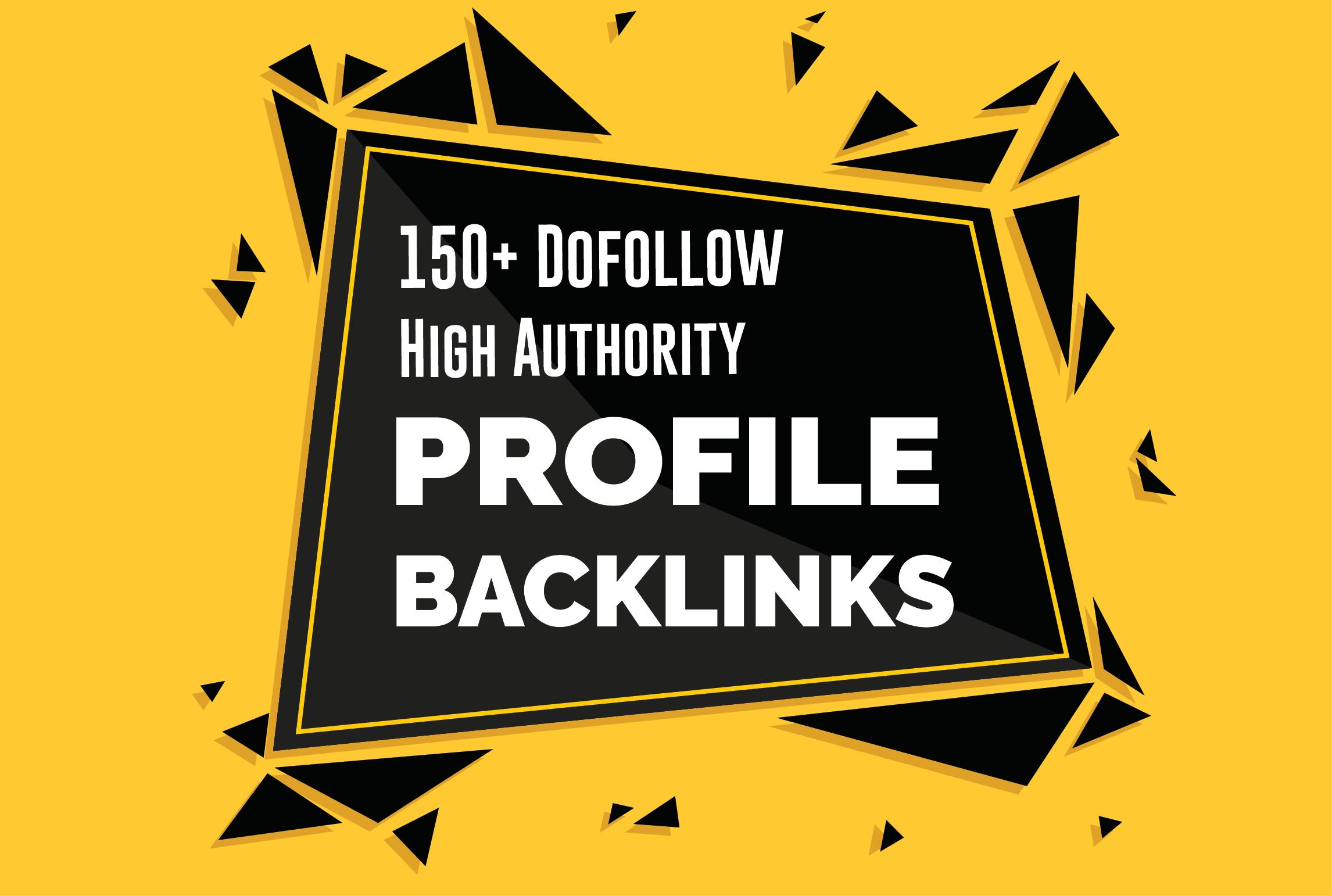 150 high da dofollow pr9 forum profile,  SEO backlinks