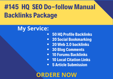 I Will Provide Manual High Quality Off Page SEO Backlinks Package