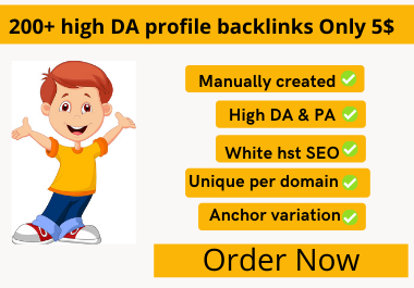 Manually I Will Create 200+ High Domain Authority Profile Backlinks