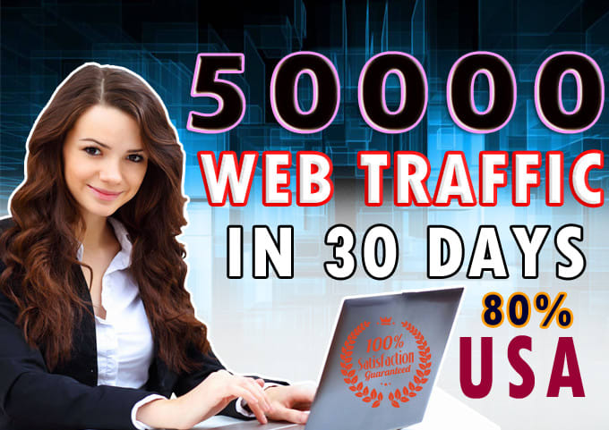 I will drive 50,000 traffic to your web site through social media marketing