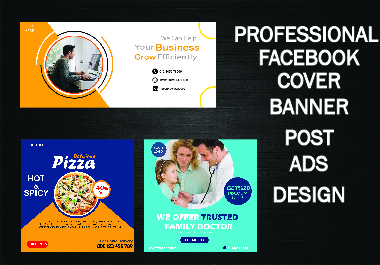 I will Design professional facebook cover, social media post design and ads that looks amazing