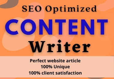 I will be your SEO website content writer,  Article,  Blog and product writer.