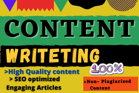 I will be your content writer and online blogger