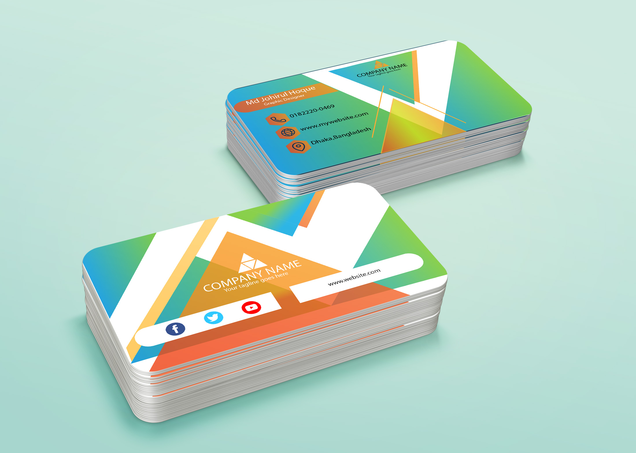 i will provide a creative and professional business card service