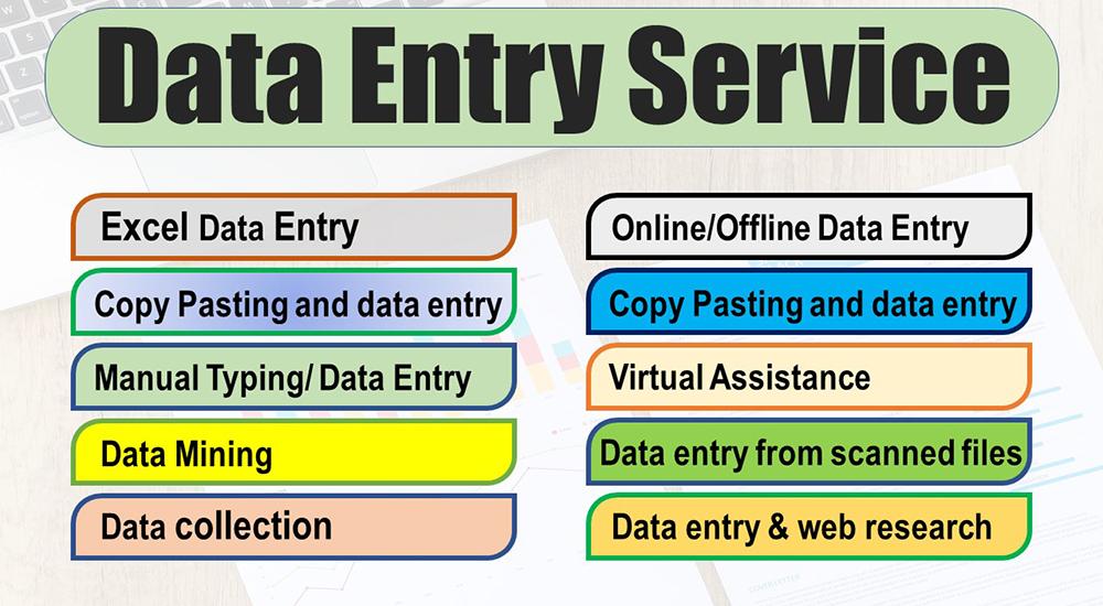 I will do any type of data entry job Professionally