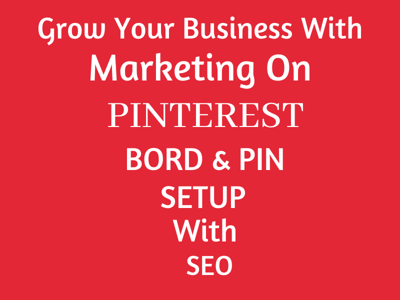 Pinterest marketing board and pin set up for your ecommerce store