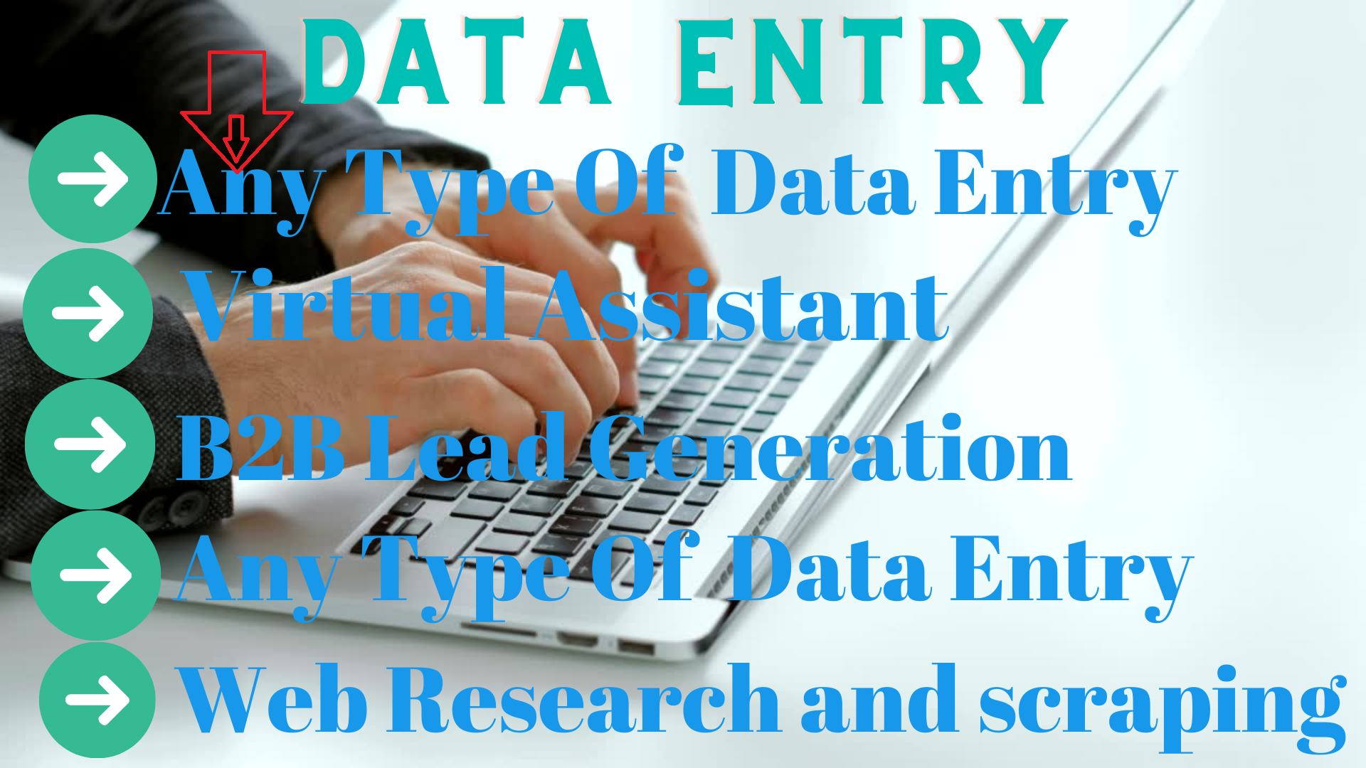 Data Entry, web research, email scraping, copy paste, pdf convert, virtual assistant