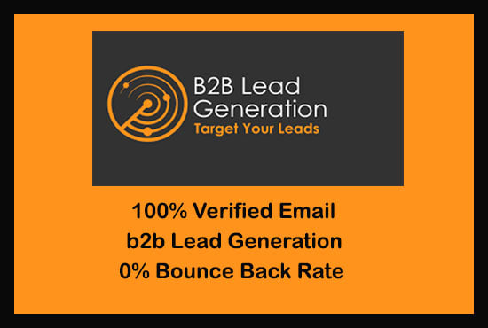 I will do b2b lead generation Nish targeted email list web scraping web Research
