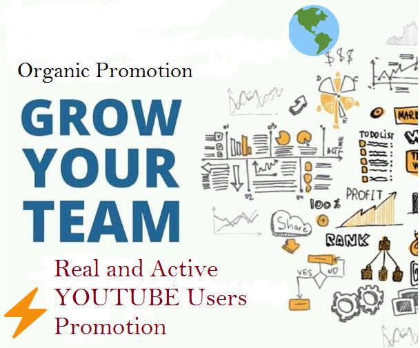 YouTube Organic Promotion. Executive service