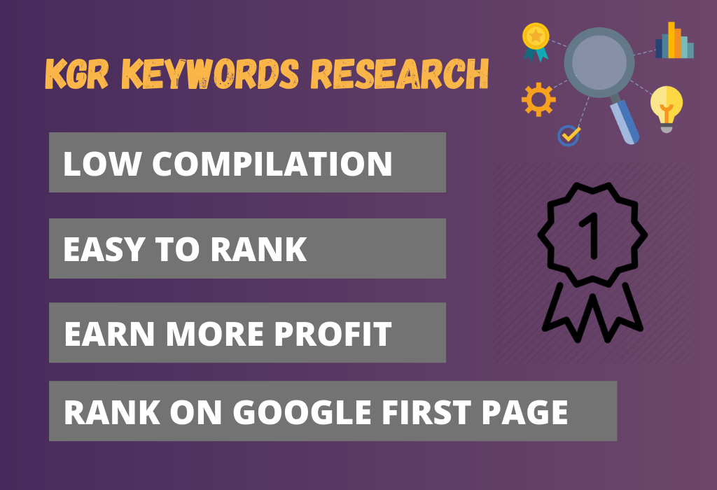 I will find KGR keywords for your website to rank on Google