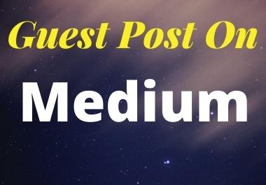 I will do guest post on Medium