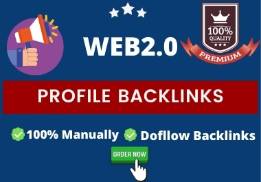 create 50 permanent WEB2.0 Profile backlinks with high DA PA