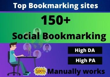 I will do high 150+ Do-follow Social Bookmarking bBacklinks
