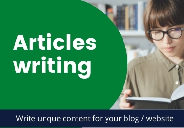 4 x 500 words Articles or Content writing for your Website or blog