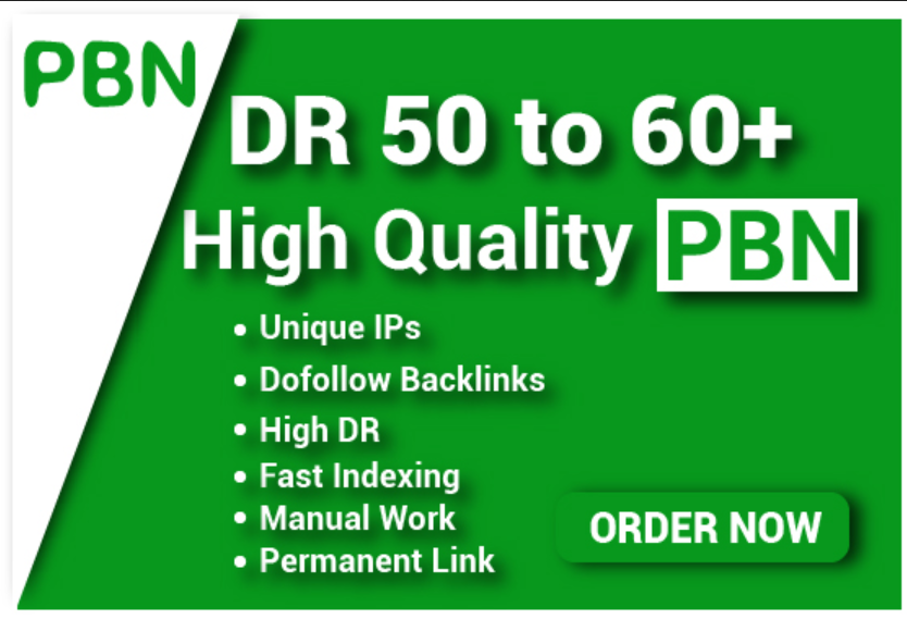 Get 15 DR 60+ Permanent Homepage PBN Backlink