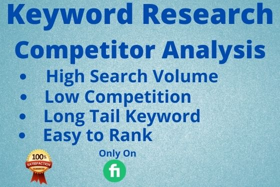 I will do In-depth seo keyword research and competitor analysis