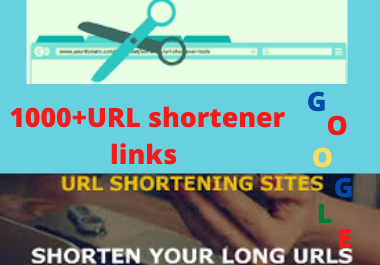 I will do 1000 URL shortener links to boost your rankings traffic
