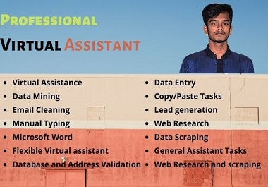 I will be your professional virtual assistant for any kind of task