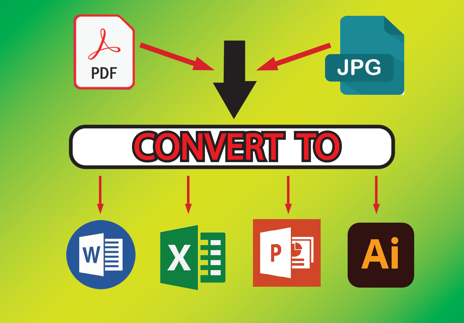 I will convert your JPG to Word, Excel or PDF to MS Word, Excel