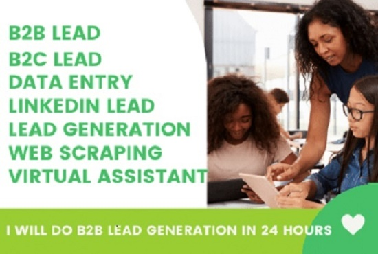 I will do lead generation in 24 hours