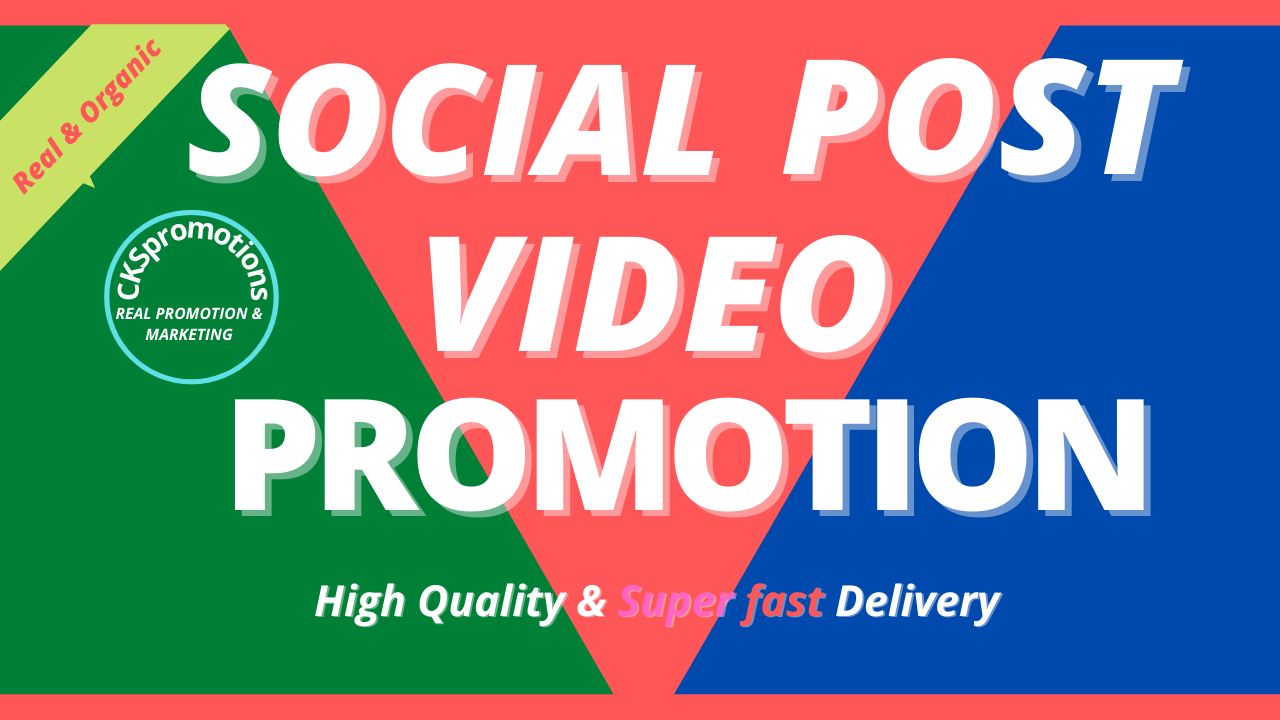 Get Genuine Social Video Post Promotion HQ Non Drop