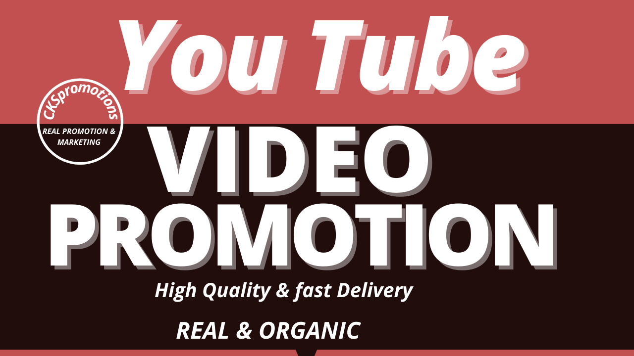 YouTube Video Promotion to Get Increase Organic Audience Through Real Marketing