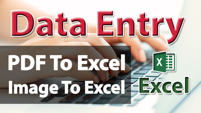 I will do data entry from pdf file or image to excel file