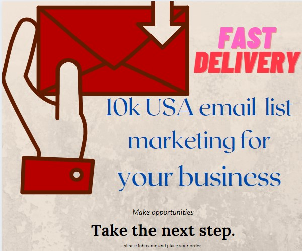 10k USA verified email list marketing for business