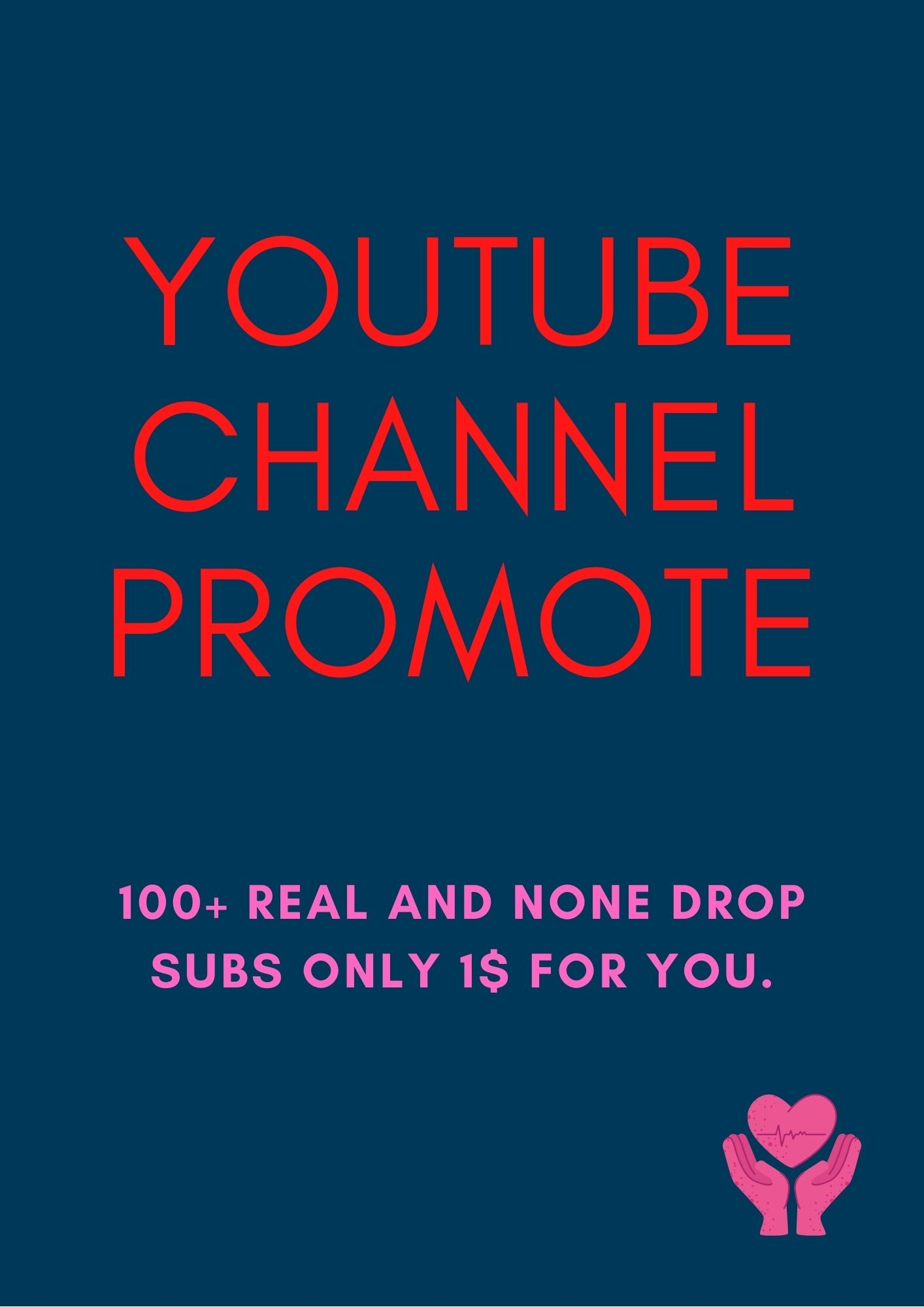 I will do organic you-tube promotion.