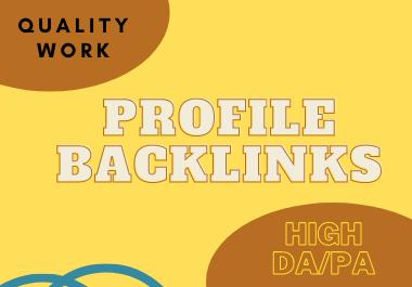I will do 60 profile backlinks