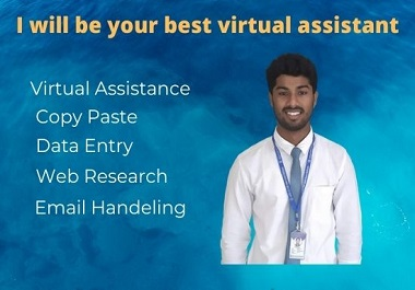 I will be your best virtual assistant for your all task