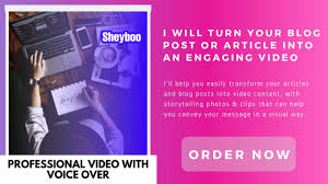 I will convert your article, Content, text, blog or scripts into engaging video