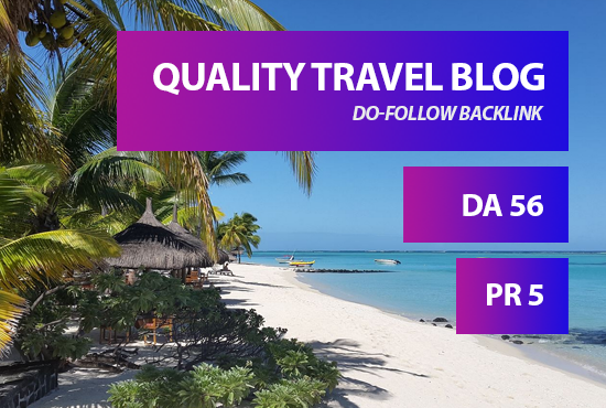 I will place your backlink in my da56 travel blog
