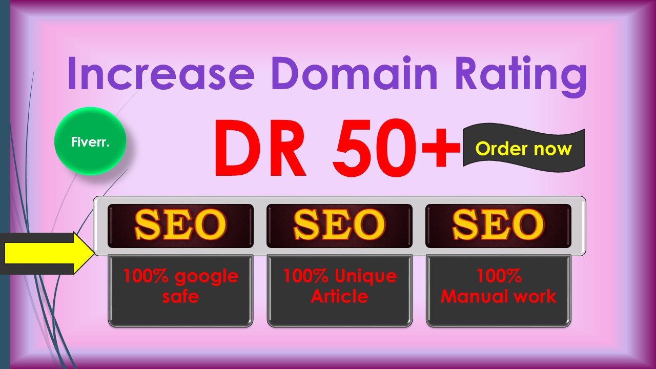 i will increase Ahref domain rating DR 50 plus Guaranteed